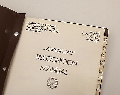 1959 Aircraft Recognition Manual FM30-30 - Fantastic Coldwar Airpower Reference