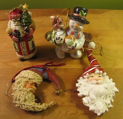 Vintage Christmas Ornaments Lot of 4