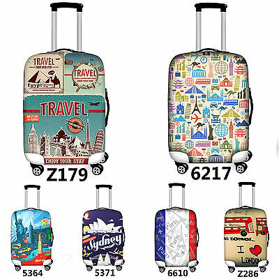 18-28 inch Travel Fashion Luggage Cover Spandex Elastic Suitcase Protector Cover