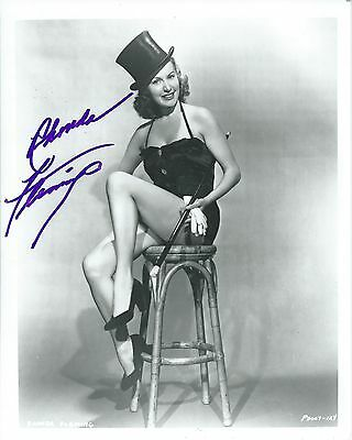 Rhonda Fleming Sexy Gorgeous Signed Authentic Autographed 8x10 Photo COA