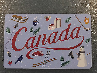 2016 Roots Canada HOLIDAY collectible gift card (NCV) French/English