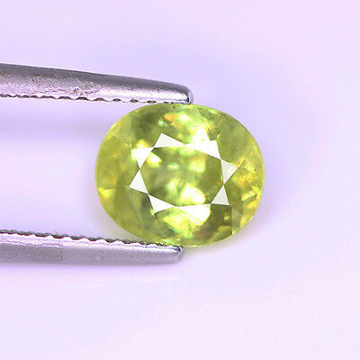 2.19 Cts Natural Green sphene oval Cut Loose Gemstone 8.3x7x4.7 mm