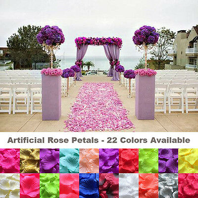 1000 Wedding Silk Rose Petals Bridal Flowergirl Basket Fake Flower Decoration