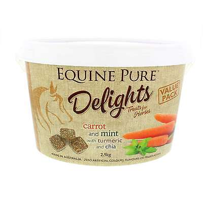 Equine Pure Delights Horse Treat Carrot and Mint with Turmeric and Chia 2.5kg