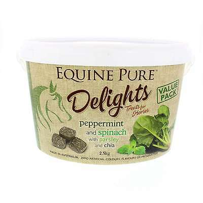 Equine Pure Delights Horse Treat Peppermint and Spinach with Parsley, Chia 2.5kg