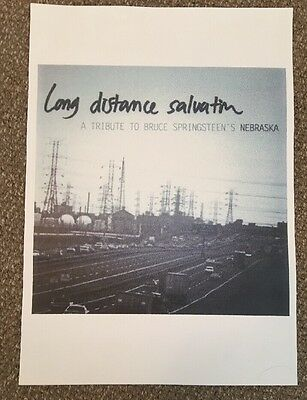 Rare Bruce Springsteen Poster Long Distance Salvation