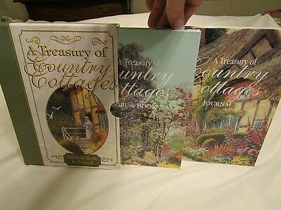 NEW 2 Book Set A Treasury of Country Cottages - Journal & Address Book.