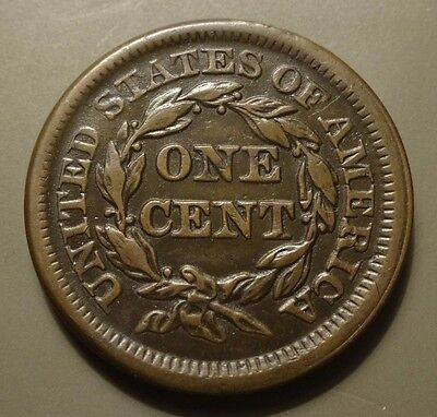 1853 Braided Hair Large Cent, Xf Details