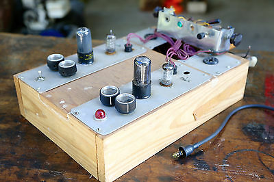 Vintage Vacuum Tube Tester Electric Home Made As Is Testing Electrical Equipment