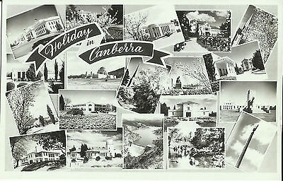 Postcard - Multiview of Canberra, ACT, Australia - 1950's?