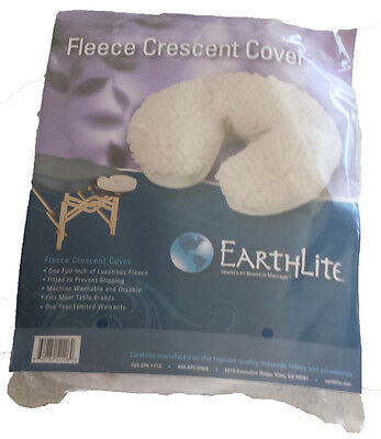 Fleece Fitted Crescent Cover - Fits Massage Table Headrest