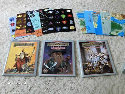 Lot  Dungeons & Dragons books and maps