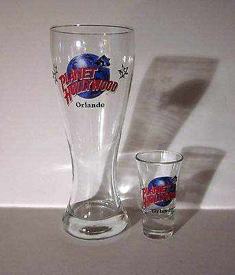 Planet Hollywood Orlando Pilsner & Fluted Shooter Glass Combo