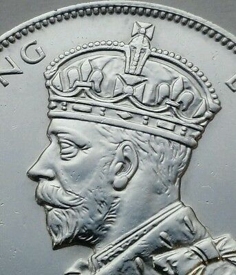 Mauritius 1 Rupee 1934. KM#17. One Silver dollar coin. One year issue. George V.