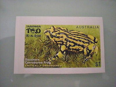 ENDANGERED WILDLIFE 2016 - MINT EX-BOOKLET SELF-ADHESIVE Corroboree frog
