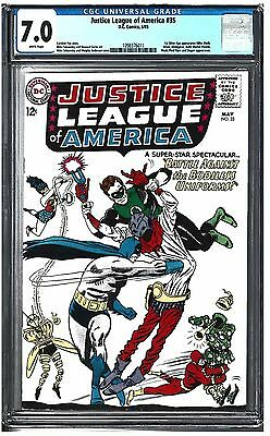 Justice League of America #35 CGC 7.0 (5/65) DC Comics White pages