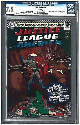 Justice League of America #45 CGC 7.5 (6/66) DC Comics White pages