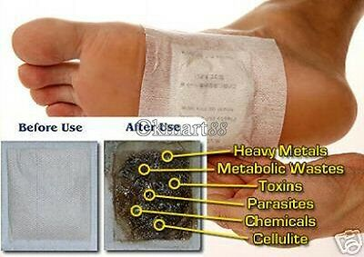 100 Detox Foot Pads Patch Detoxify Toxins Adhesive Keeping Fit Health Care OK