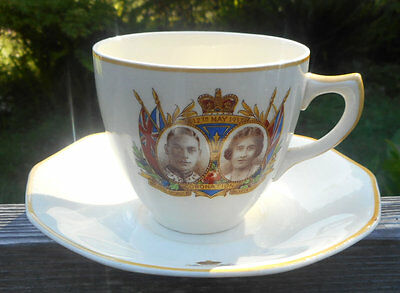 King George VI & Queen Elizabeth c.1937 Coronation Cup and Saucer England