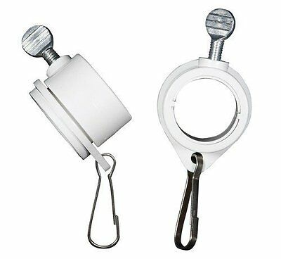 Valley Forge Flag Poles 1-Inch Diameter Rotating Mounting Rings 2pcs Anti Wrap