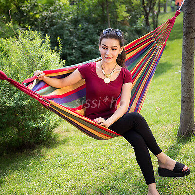 **ON SALE**200KG Hammock Air Chair Double Cotton Fabric Hanging Swinging Camping