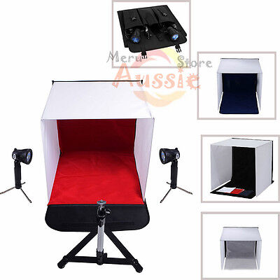 50cm Photography Lighting Tent Cube Soft Box Backdrops Lights Camera Stand Kit