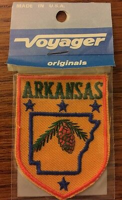 Voyager Arkansas State USA United States Country Vintage Souvenir Travel Patch