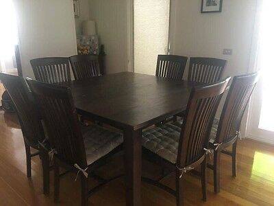 Freedom Furniture dining table and chairs