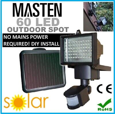 #60LED Outdoor Solar Garden Security Flood Light Ultra Bright Waterproof Lamp