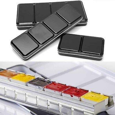 6/12/24 Full Pan Solid Watercolor Empty Paint Box Case For Art Drawing Paint