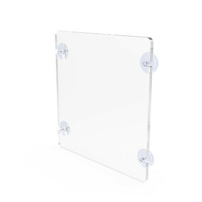 """Fixture Displays 8.5x11"""" Acrylic Sign Holder with Suction Cups 12063"""