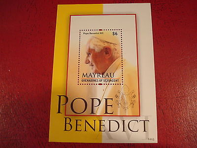 St Vincent - Pope Benedict Xvi - Minisheet - Unmounted Mint - Ex. Condition