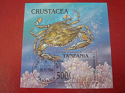 Tanzania - 1994 Crustacea - Minisheet - Unmounted Used -  Ex Condition