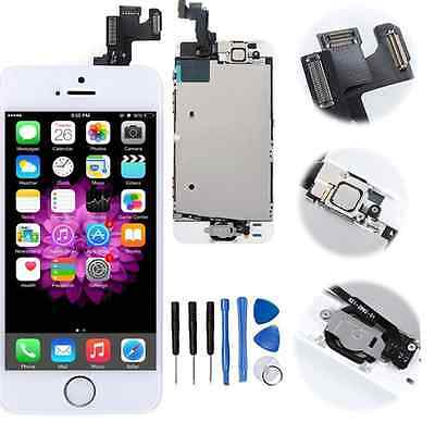 For iPhone 5S LCD Digitizer Assembly Screen Replacement + Home Button Camera UK