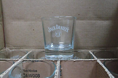 Jack Daniel's Tennessee Whiskey Old No 7 Tumbler Shot Glasses 9.1 oz Sq