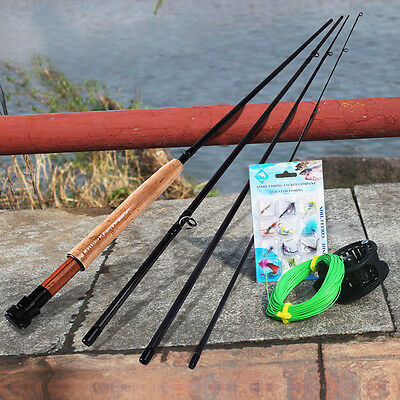Fly Fising Combos Rod and Reel Fly Line Flies Kits Fly Fishing Accessories Set