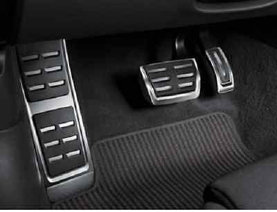 Genuine Audi A6 A7 Aluminium Pedal Covers & Footrest - Automatic & RHD only.