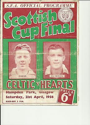 Hearts v Celtic 1956 Scottish Cup Final Programme