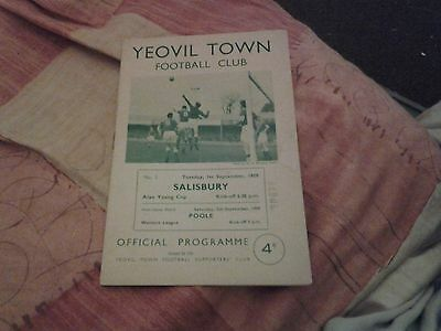 yeovil town reserves v salisbury 59.60 alan young cup