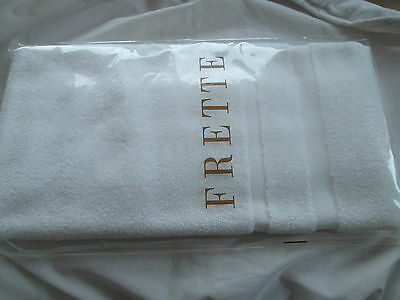 Frette white cotton luxury bath towel. Made in Italy.