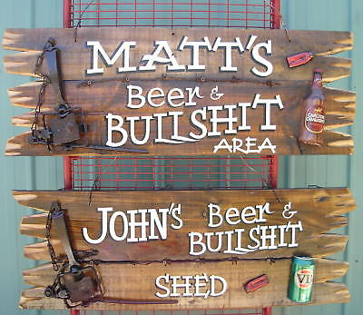 Personalised Signs; Ex Large Timber Shed Or Bar Sign