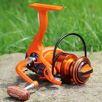 Spinning Casting Fishing Reels Orange Drag 10+1BB Freshwater Saltwater Reel Gear