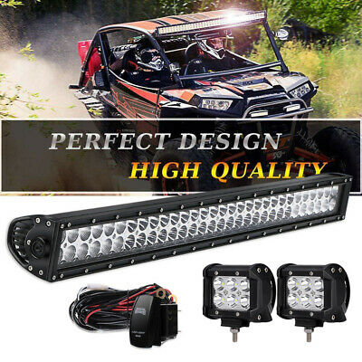 Curved 32inch 180W Flood Spot Led Work Light Bar Driving Jeep Offroa ATV UET 30""
