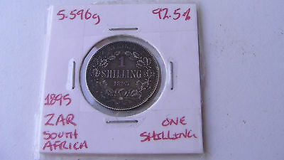 ZAR (South Africa) 1895 one shilling silver coin