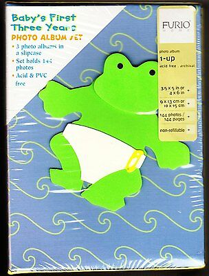 Baby's First Three Years Photo Album Set By Furio Home - New!!!