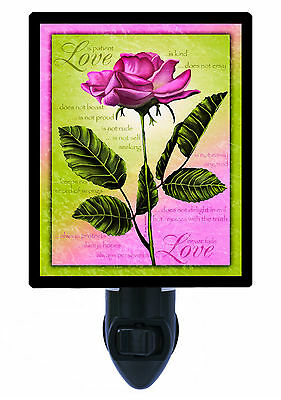 Night Light - Love Is... - Rose Image - Love and Valentines
