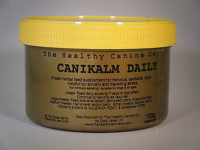 Natural Herbal Calming CaniKalm Daily for Stressed Anxious Dogs 100g