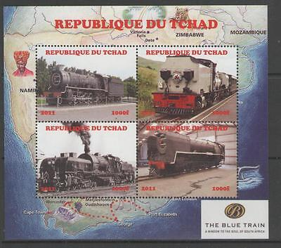 Chad 2011 Railways Mnh