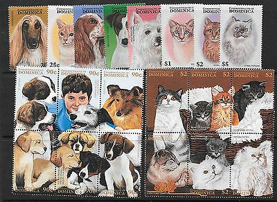 Dominica Sg2257/76 1997 Cats & Dogs  Mnh