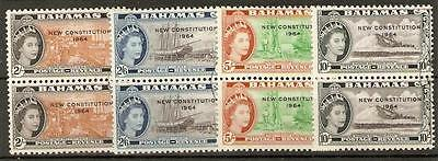 Bahamas Sg239/42 1964 New Constitution 2/6 - 10/=  Used Pairs